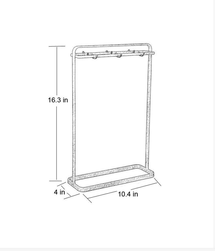 Utensil holder Utensil organizer Utensil rack with 6 hooks porcelain-fused wires