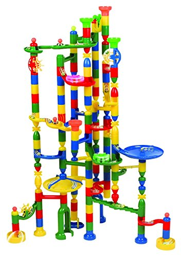 Edushape Marbulous Marble Run Track Set 202 Pieces + 50 Marbles STEM Learning Toy, Educational Construction Building Blocks Toy for Kids 6 7 8 + Year Old Boys Girls with Clear Illustrated Instructions