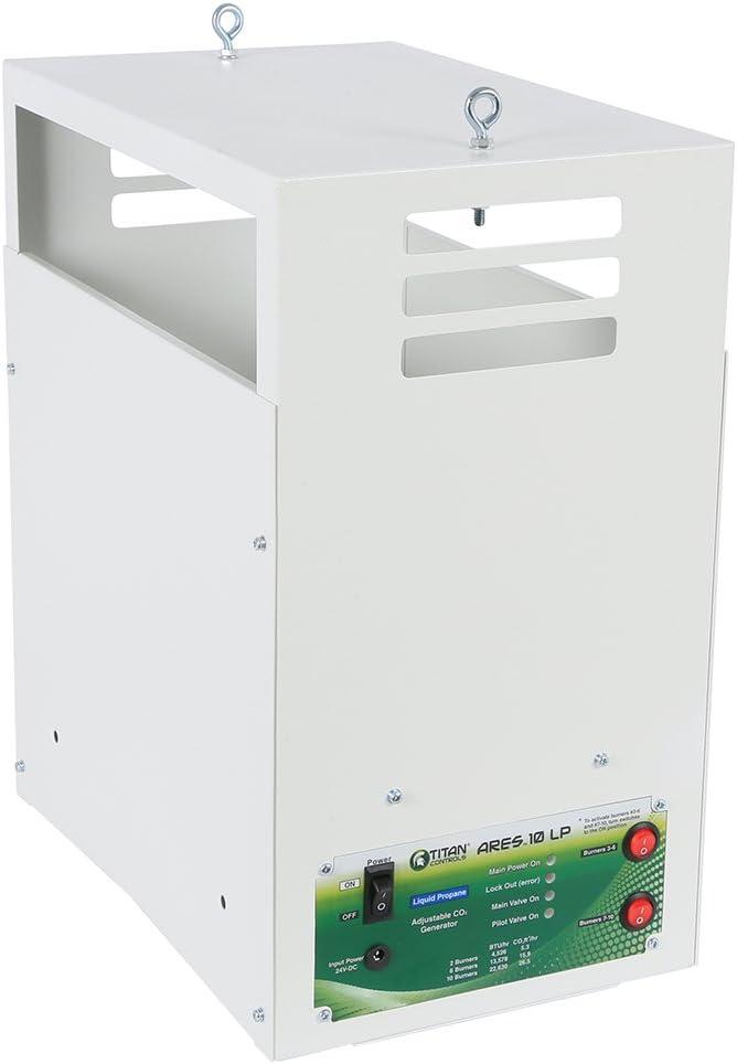 Titan Controls Ares 10 - Carbon Dioxide (CO2) Generator LP - 26.5 CUFT/HR, Liquid Propane, 10 Burner, White