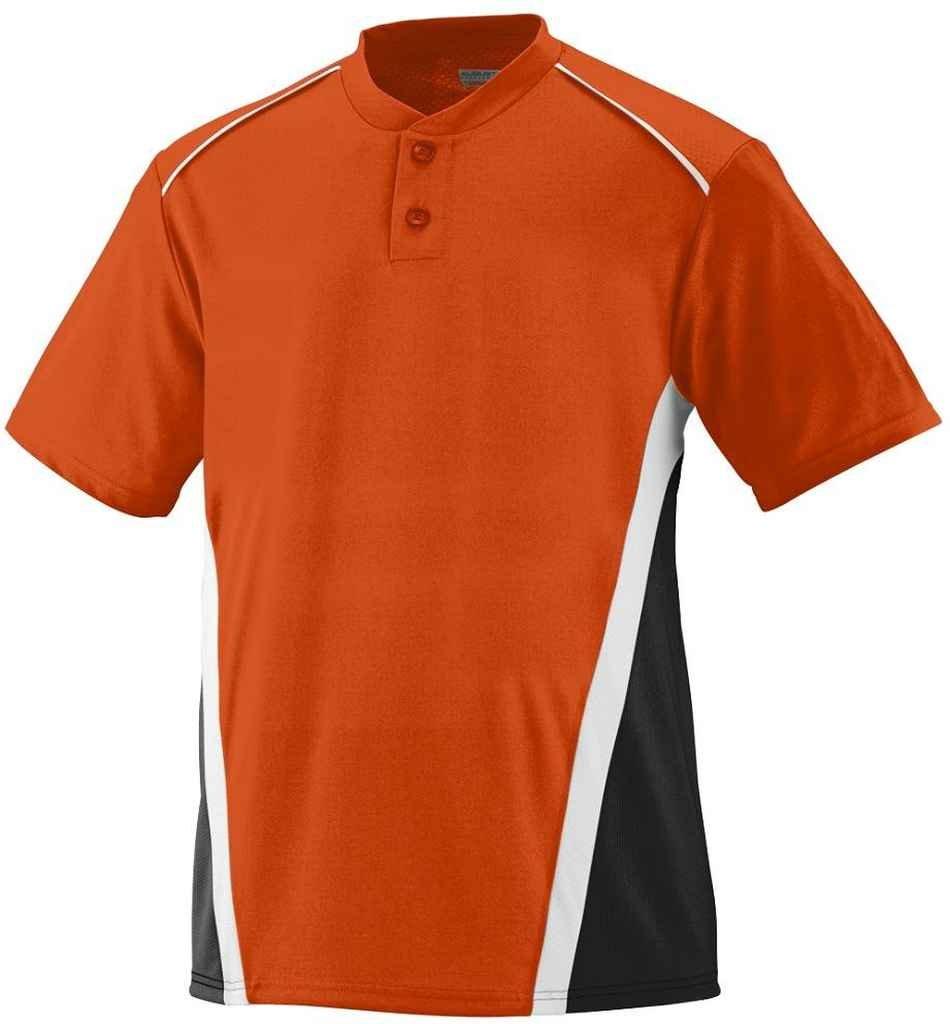Augusta Sportswear Boys ' RBI野球ジャージー B00E1YUCB8 Large|オレンジ/ブラック/ホワイト オレンジ/ブラック/ホワイト Large