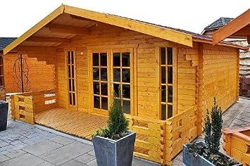 Blockhaus München gartenhaus münchen blockhaus 500x450cm 150cm veranda gartenlaube