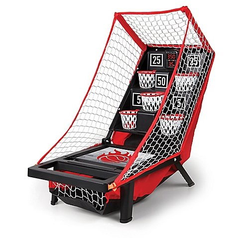 Sharper Image Fun Classic Lightweight Launch Pad Portable Tabletop Basketball Game, 10.5