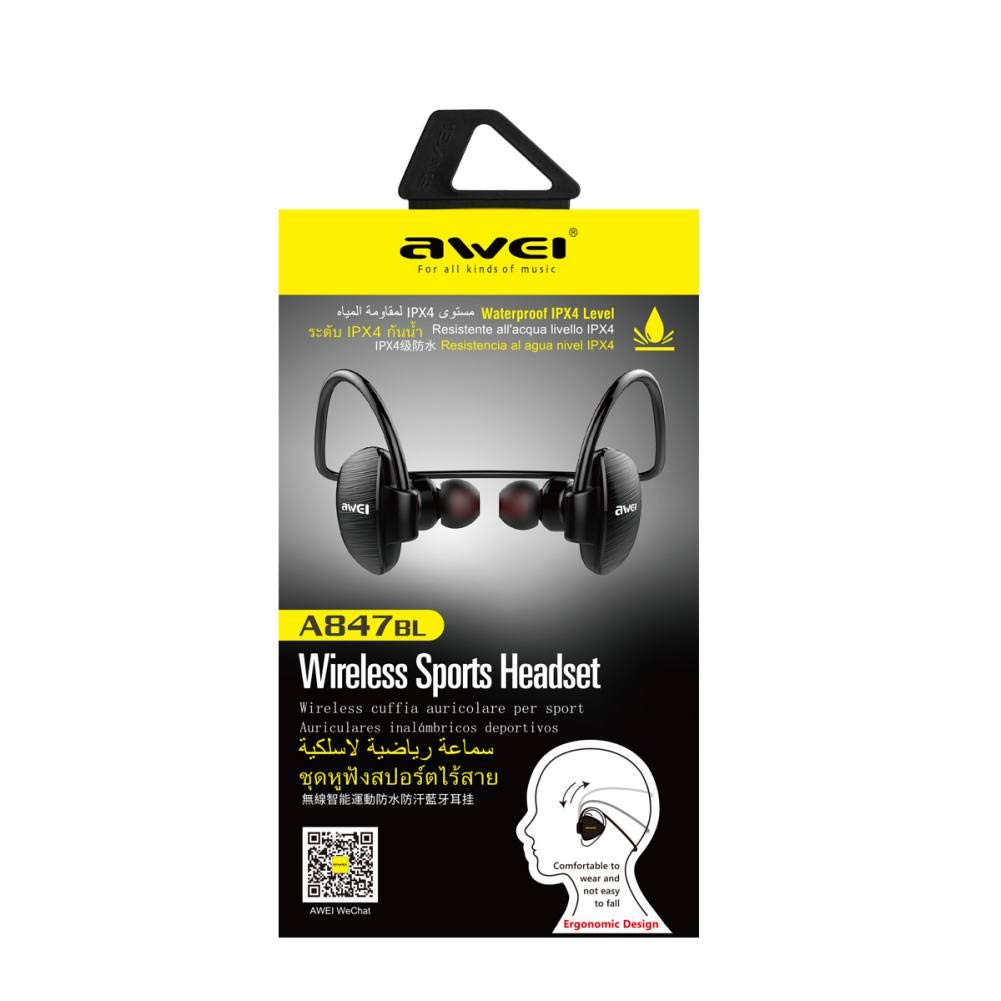 Amazon.com: Awei A847BL NFC Bluetooth Sports Headphones: Home Audio & Theater