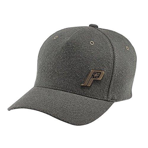 (OEM Polaris Gray Throwback Cap Baseball Hat Flex Fit Size L-XL)