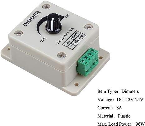 Neu 12\24V In-Line LED Light Dimmer-Steuerpult Strip H3Y2 3 On\Off Key Scha F8V3