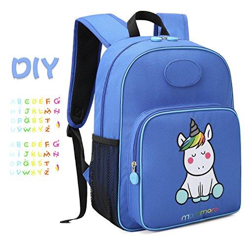 mommore Cute Unicorn Kids Backpack Preschool Toddler Backpack for 3-7 Years Old Boys/Girls,Blue