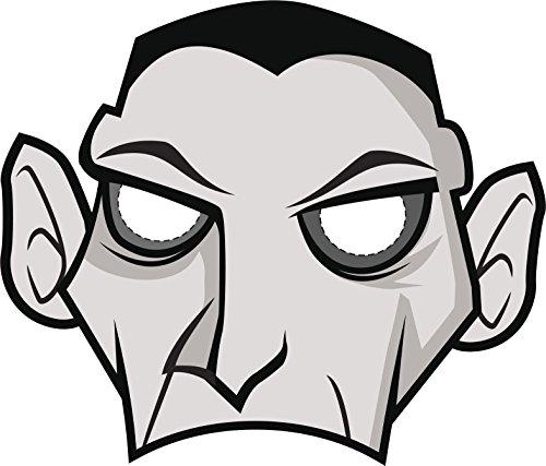 Simple Halloween Monster Cartoon Costume Mask - Dracula Vampire Vinyl Decal Sticker (12