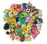 Different 50 Pcs PVC Shoe Charms for Croc & Jibbitz Bands Bracelet Wristband