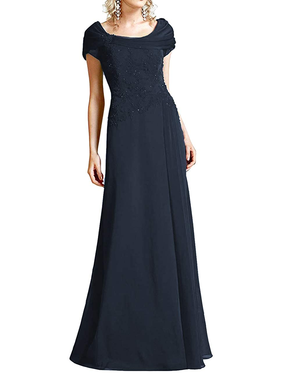 Dark Navy H.S.D Mother of The Bride Dresses Lace Formal Gowns Long Evening Dress Prom Wrap Shawl