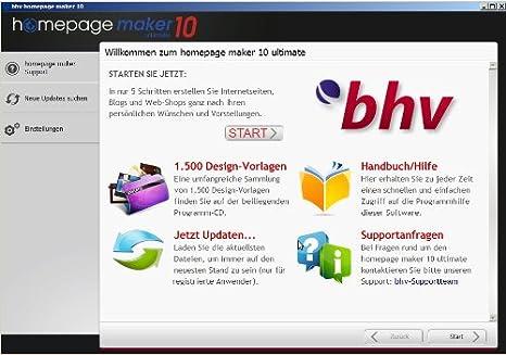 Homepage Maker 10 Ultimate: Amazon.de: Software