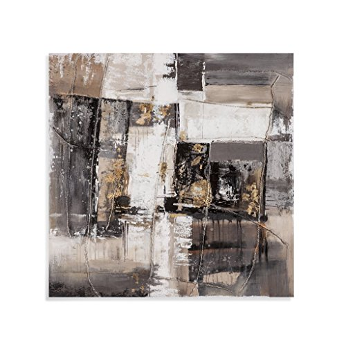 Bassett Mirror 7300-350EC Metallic Patchwork Canvas Wall Art