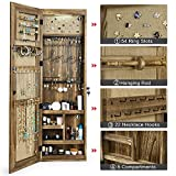 SRIWATANA Jewelry Armoire Cabinet, Solid Wood