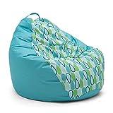 Big Joe Outdoor 132'' Teardrop Cool Geo Drop Bean Bag, Multicolor
