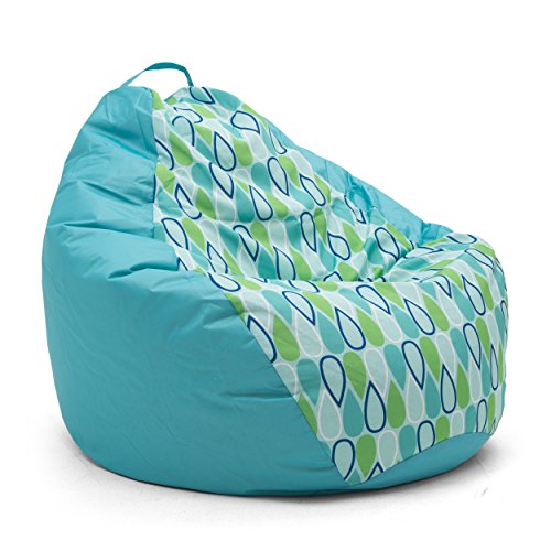 Teardrop Cool Geo Drop Bean Bag, Multicolor (Geo Pool Bag)