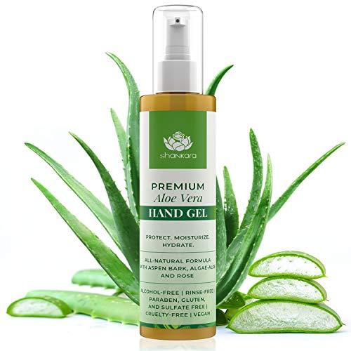 Organic Aloe Vera Gel After Sun Lotion – 100% Aloe Vera Moisturizer and Sunburn Relief – All-in-One Aloe Gel for Face…