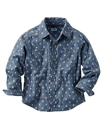 Carter's Baby Boys' Printed Chambray Button Down Shirt by Carter's
