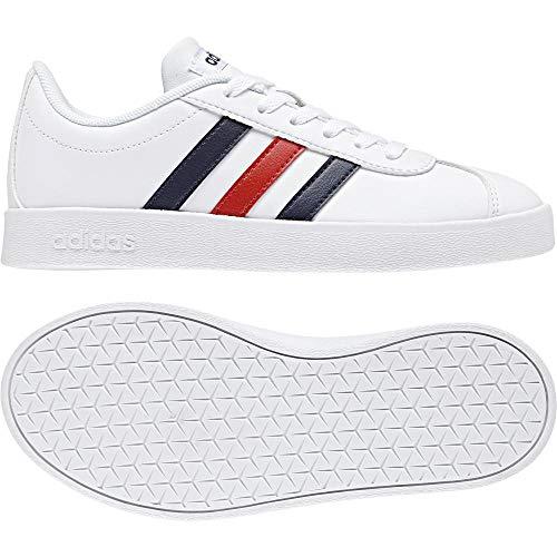 low priced 9ccf2 ff6d6 De K Zapatillas 2 Vl 000 blanco Unisex Blanco Adidas 0 Deporte Niños Court  xnSaqI4