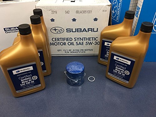 Genuine SUBARU Oil Change Kit Filter Gasket 5 Qts Synthetic 5W30 Turbo WRX STI +