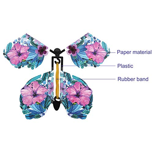 B bangcool Magic Flying Butterflies, Magical Fly Butterfly Natural Wind Up Powered Fly Up Fairy Butterflies for All Age People (20 PCS)
