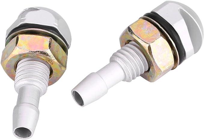 argento Spruzzatore del Parabrezza 2pcs Universale in Lega di Alluminio Auto Anteriore Parabrezza Spruzzatore Ugello della Rondella