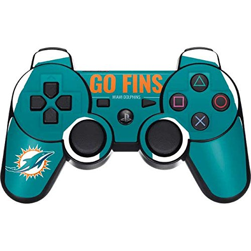 (Skinit Miami Dolphins Team Motto PS3 Dual Shock Wireless Controller Skin - Officially Licensed NFL Gaming Decal - Ultra Thin, Lightweight Vinyl Decal Protection)