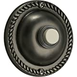 Quorum 7-305-92 Accessory - Traditional Round Button, Antique Silver Finish