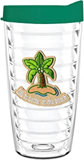 product image for Smile Drinkware USA-Life Is Better On The Beach Tumbler with Lid and Straw (16oz)