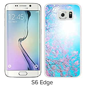 New Beautiful Custom Designed Cover Case For Samsung Galaxy S6 Edge With Nature Sunny Cherry Blossom (2) Phone Case