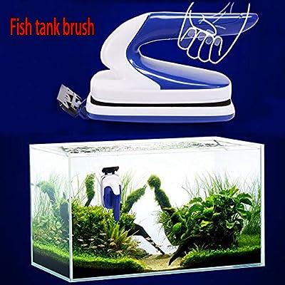 Hemgk Fish Tank Brush, Aquarium Magnetic Brush Cleaner, Fish Tank Glass Algae Scrubbing Scraper, Easy to Use, Non-Slip and Anti-Scratch, for Ocean Park, Garden Pools, Windows, Glass Door or Pools : Garden & Outdoor