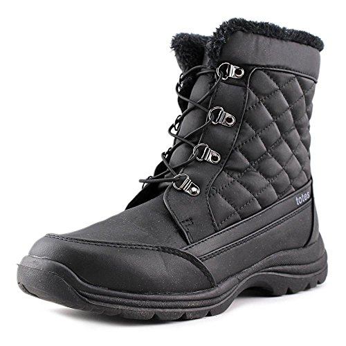 Totes Womens Troy Snow Boot | Waterproof Soft Black Sole Winter Boot, Size - 8.5M (Available in Medium and Wide Width) - Black Soft Calf Footwear