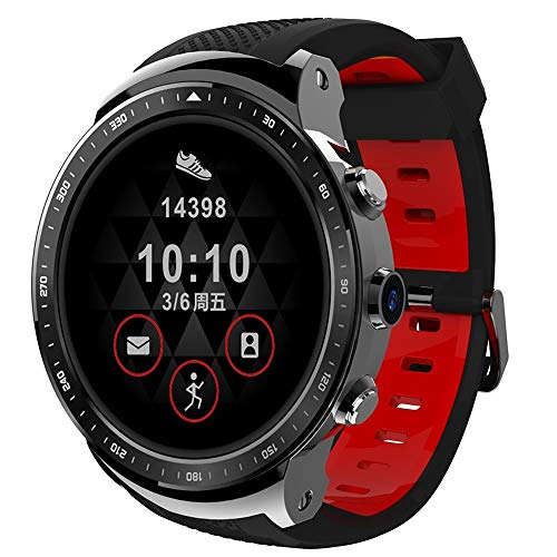 (BF-Watch Bluetooth WiFi GPS Heart Rate Monitor Touch Screen Calories Burned Hands-Free Calls Timer Pedometer Call Reminder Activity Tracker Sleep Tracker/Sedentary Reminder / 1GB:Silver/Black )