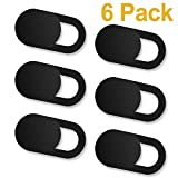 #9: Computer Camera Cover [6 Pack], Webcam Cover Slide for Mac, Macbook Pro, iMac, Laptop, Surfcase Pro, Phone, 0.027in Ultra Thin Camera Blocker Privacy Shield