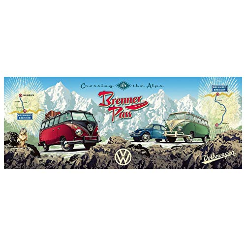 Ravensburger Cross the Alps with VW! Panoramic 15102 - 1000 Piece Jigsaw Puzzle