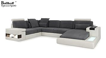 Design Sofa Couch Leder Wohnlandschaft Xxl Stoff U Form Ecksofa