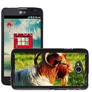 Super Stella Slim PC Hard Case Cover Skin Armor Shell Protection // M00103963 Goat Billy Goat Animal Horns // LG Optimus L70 MS323