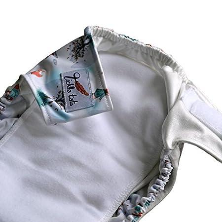 Tickle Tots - Juego de 2 pañales para bebés con un sistema 2 en 1 blanco Perfect Puddles: Amazon.es: Bebé