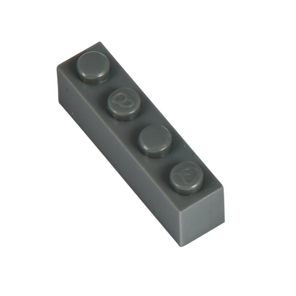 Q-Bricks x 4 x Q-Bricks 1-Stud Bausteine lose Pack (500 STK, Dusty Grau) dbcae1