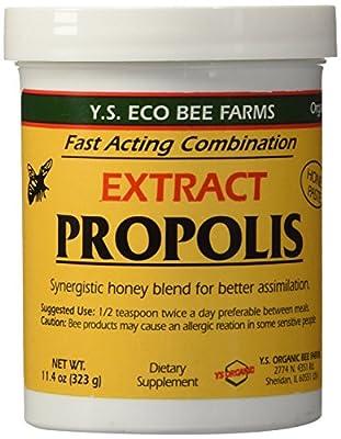 YS Eco Bee Farms Propolis Extract in Honey 11.4 oz jar