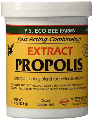 YS Eco Bee Farms Propolis Extract in Honey- 11.4 oz (Pack of 2) by YS Eco Bee Farms