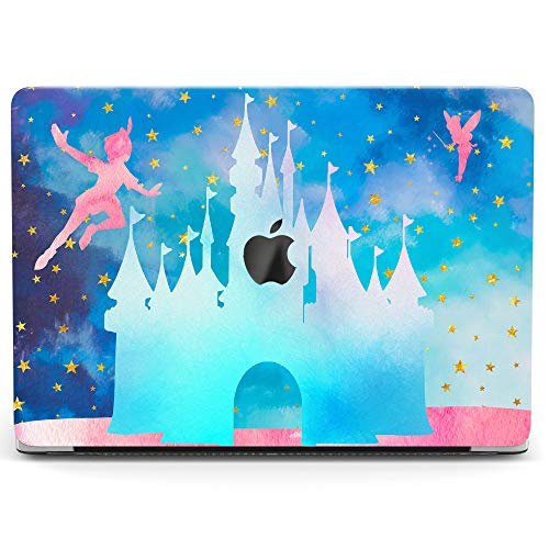 Wonder Wild Case for MacBook Air 13 inch Pro 15 2019 2018 Retina 12 11 Apple Hard Mac Protective Cover Touch Bar 2017 2016 2015 Plastic Laptop Print Peter Pan Castle Tinkerbell Cartoon Blue Fabulous