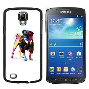 """Be-Star Único Patrón Plástico Duro Fundas Cover Cubre Hard Case Cover Para Samsung i9295 Galaxy S4 Active / i537 (NOT S4) ( Enfriar Pug Gentleman impresionante"""" )"""