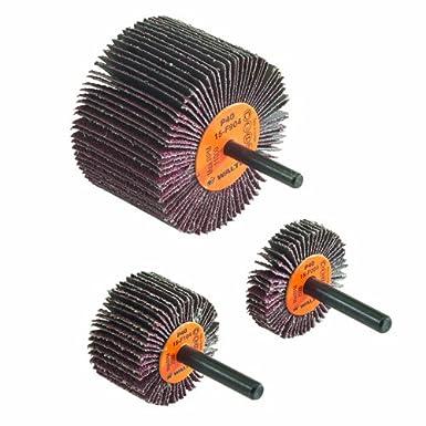 Walter Coolcut Abrasive Flap Wheel, Round Shank, Aluminum Oxide, 1-1/2' Diameter, 3/8' Face Width, Grit 40, 25000 Maximum RPM (Pack of 10) 1-1/2 Diameter 3/8 Face Width Walter Surface Technologies 15F004