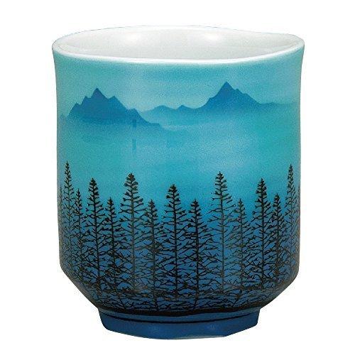 Kutani Yaki(ware) Japanese Yunomi Tea Cup Mountain Ranges by Kutani