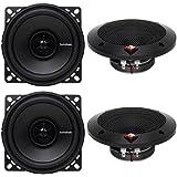 4) New Rockford Fosgate R14X2 4 120 Watts 2-Way Full Range Car Audio Speakers