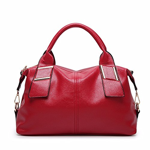 HYP Handmade Leather Tote Bag Travel Bag/&Computer Bag For Women / Portable Single Shoulder Bag Diagonal Package Simple and Stylish Girl