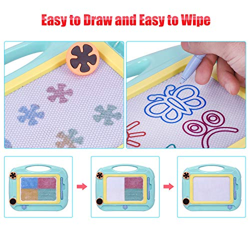 MIZIKUSON Magnetic Drawing Board for Kids and Toddlers, Easy Erasable Doodle Sketch Pad Board Educational Toys Writing Tablet Gifts