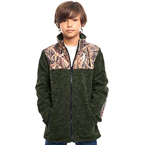 Price comparison product image TrailCrest Children's C-Max Full Zip Fleece Jacket, Mossy Oak Shadow Grass Blades Camo