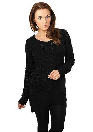 Urban Classics TB739 Damen Pullover Ladies Long Wideneck Sweater   Amazon.de  Bekleidung 45ffeb850f