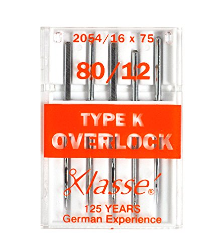 Klasse Serger Type K Overlock Size 80/12 Needles 5 Pack