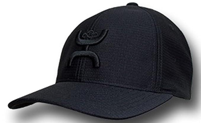 b2e9b3ff Hooey Brand Black With Black Center Front Logo L/XL Flexfit Hat ...